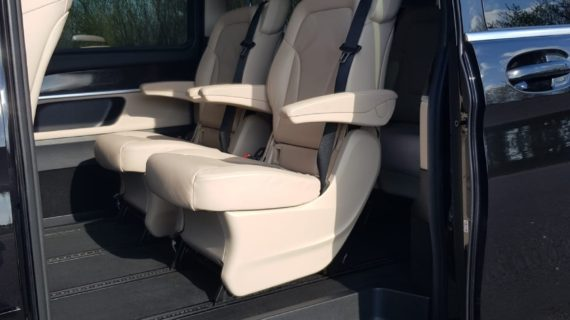 Interior of our Mercedes-Benz V-Class